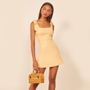 NWT -- Reformation Liz Dress in Lemon Yellow
